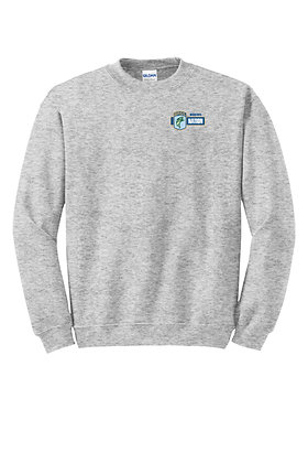 Crewneck 50/50 DryBlend Sweatshirt- Embroidered Left Crest