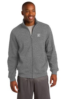SportTek ST259 65/35 Dry Blend Zip Up Sweatshirt w/Screen Printed Logo
