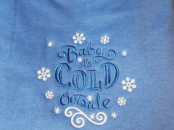 Baby it's Cold Outside Lace Up (Hockey) Hoodie