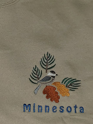 Minnesota Chickadee Crew Neck Sweatshirt
