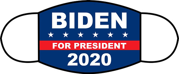 Biden 2020 Sublimated 3 Layer Face Mask (2 sizes)