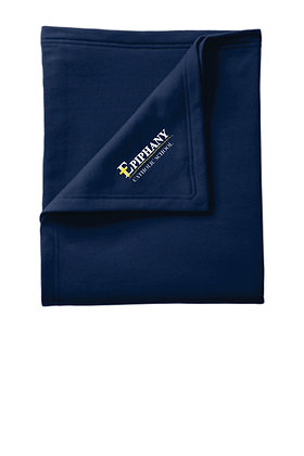 Fleece Blanket BP78 - Embroidered Logo (2 Color & 3 Logo Options)