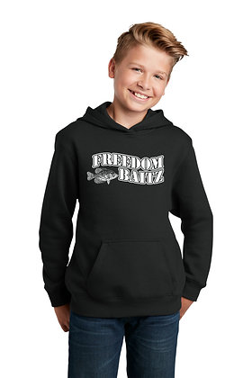 Youth Hoodie (2 Colors Available) w/Freedom Baitz Screen Printed Logo