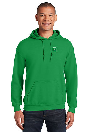 Gildan 18500 50/50 Dry Blend Pull Over Hoodie with Embroidered Logo