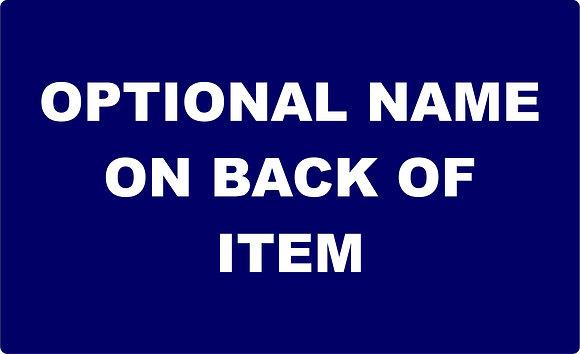 Optional Name on Back