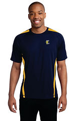 ST351 with E Left Crest Logo - Navy-Gold
