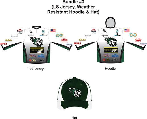 Bundle #3 - LS Jersey + Weather Resistant Hoodie + Hat