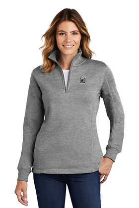 SportTek LST253 65/35 Ladies Dry Blend 1/4 Zip Up Sweatshirt w/Embroidered Logo