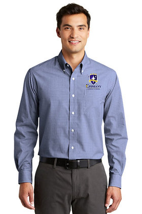 Port Authority® Plaid Pattern Easy Care Shirt1 - Embroidered (4 Logo Options)