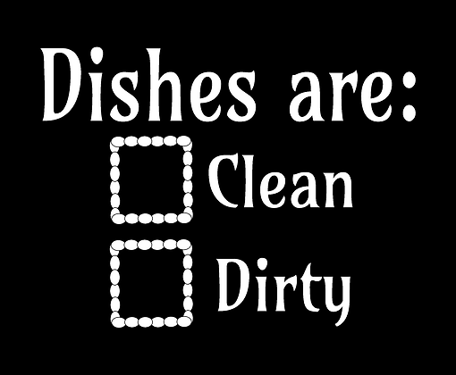 Dishes are 1