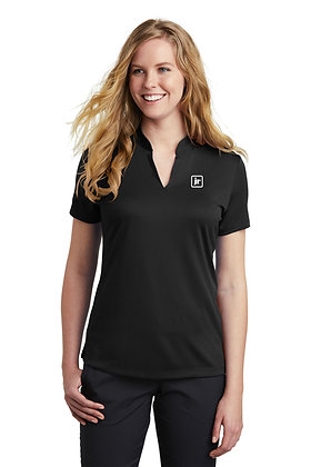 Women's Nike NKAA1848 DriFit Textured Polo with Embroidered Logo
