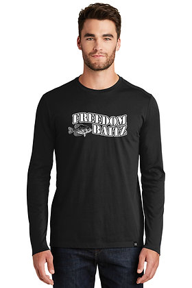 Men's Long Sleeve New Era Tee (3 Colors) w/Freedom Baitz Screen Printed Logo