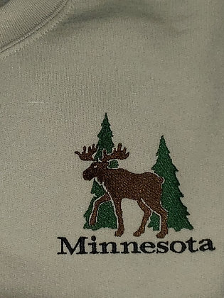 Minnesota Moose Zip Up Hoodie