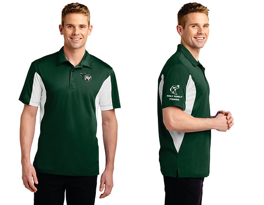Mens SportTek ST655 Performance Polo (Forest Green/White)