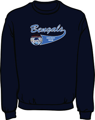 Standard Sweatshirt w/Player Photo - Navy Blue with White & Columbia Blue Twill