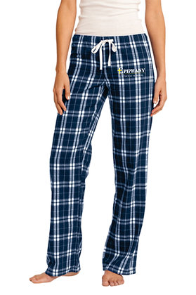 Woman's Flannel Plaid Pant DT2800 - Embroidered Logo (4 Logo Options)