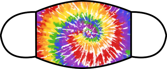 Tie Dye Sublimated 3 Layer Face Mask (2 Sizes)