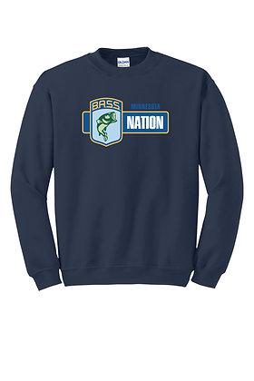 Crewneck 50/50 DryBlend Sweatshirt- Screen Printed (Full Chest or Left Crest)