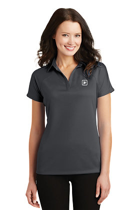 Women's Port Authority L575 Poly Performance Polo with Embroidered Logo