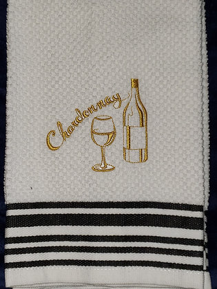 Chardonnay Wine Kitchen Towel