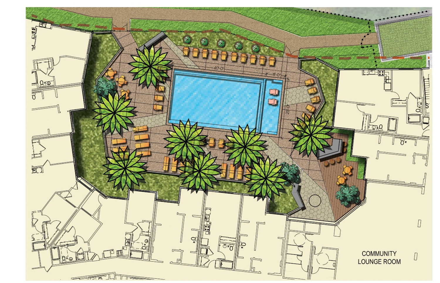 North County Plaza Pool Court Enlargement