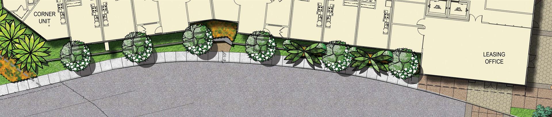 North County Plaza Street Edge  Enlargement