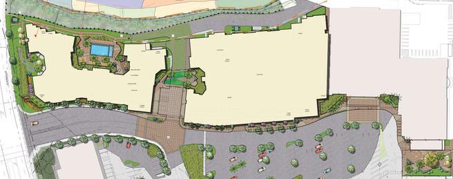 North County Plaza Overall Landscape Area