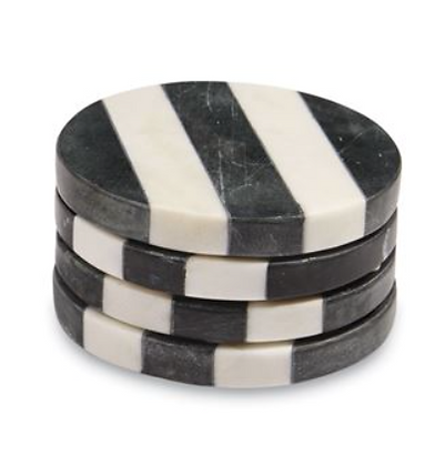 Marble Coaster with Stripes