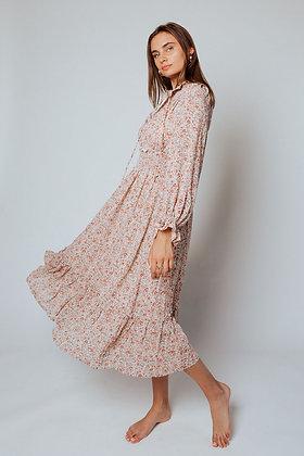 Chiffon High Collar Dress