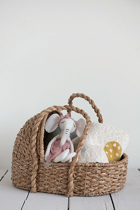 Little Sally's Seagrass Baby Moses Basket