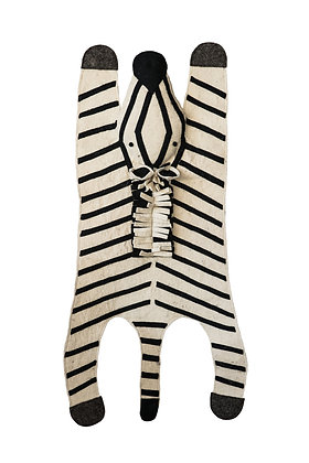 Willow Wool Felt Zebra Rug