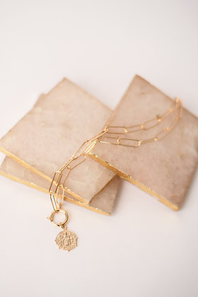 Chain Toggle Clasp Coin Necklace