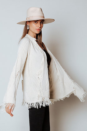 PREORDER-Ivory Ripped Cardi