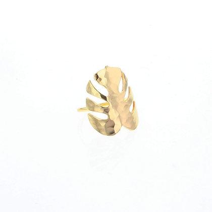 Handmade Tropical Leaf Ring