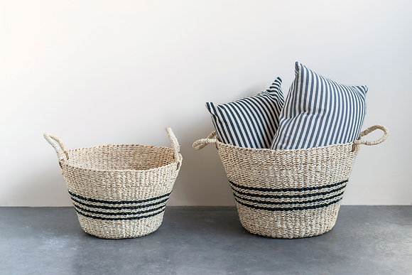 Coraline Seagrass Baskets- set of 2