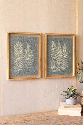 Set of 2 Framed Fern Prints