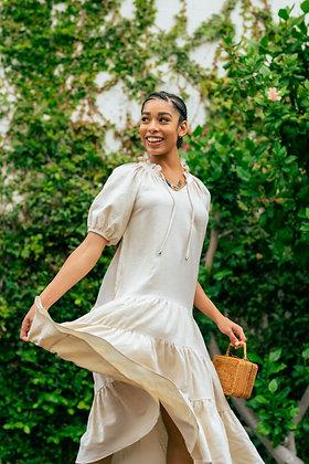 Cotton Tiered Market Dress