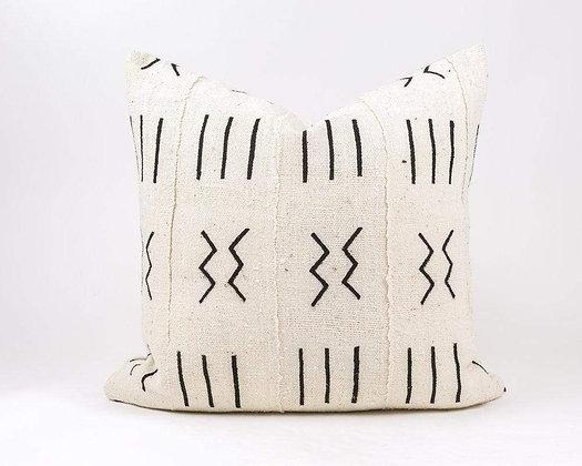 """PREORDER- Eli 18""""x18"""" Mudcloth Pillow"""