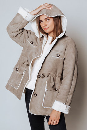 Fur Lined Suede Jacket