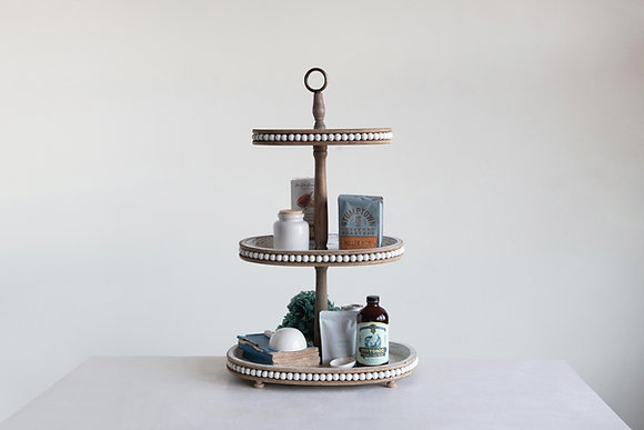 Chloe Oval Tiered Tray