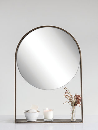 Cassian Mirror with Shelf