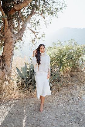 Ivory Silk Skirt