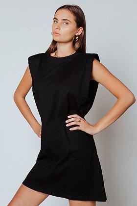 Strong Shoulder Shift Dress