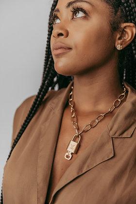 PREORDER- Vintage Louis Vuitton Lock Necklace