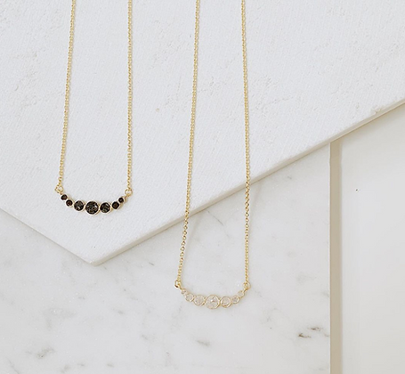 The Sevenfold Deco Dot Necklace