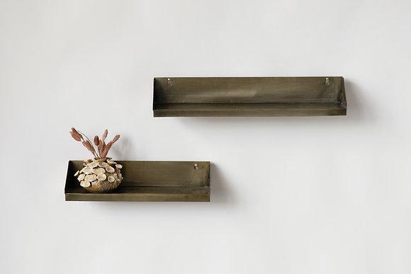 Jordan Metal Wall Shelfs-set of 2