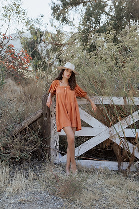 Flowy Rust Dress