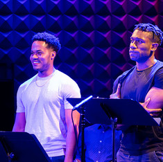 Samuel Encarnacion and Philip Johnson-Richardson in an excerpt reading of The Bandaged Place