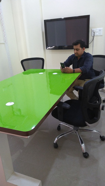Conference room with screen