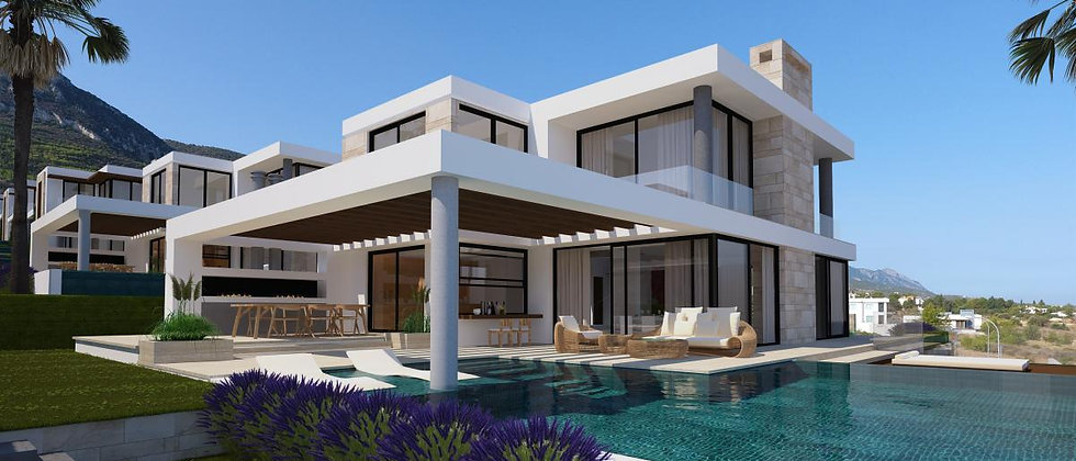 Luxurious 3 bedrooms villas in Edremit, Girne with option of designs and styles.